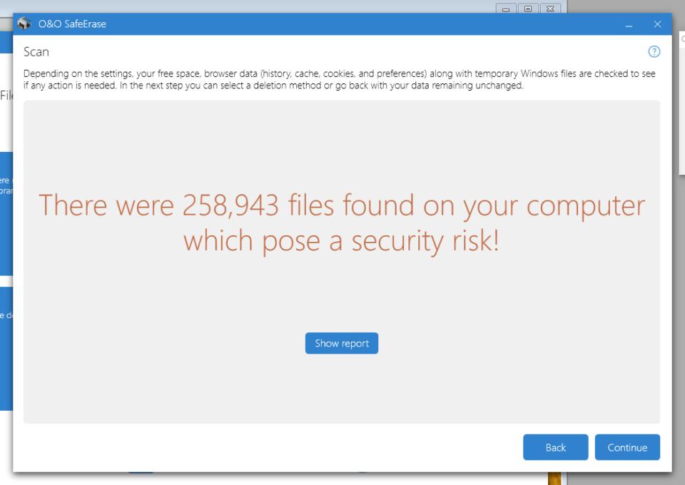 258.943 filer udgør en sikkerhedstrussel? Den tror vi ikke på.
